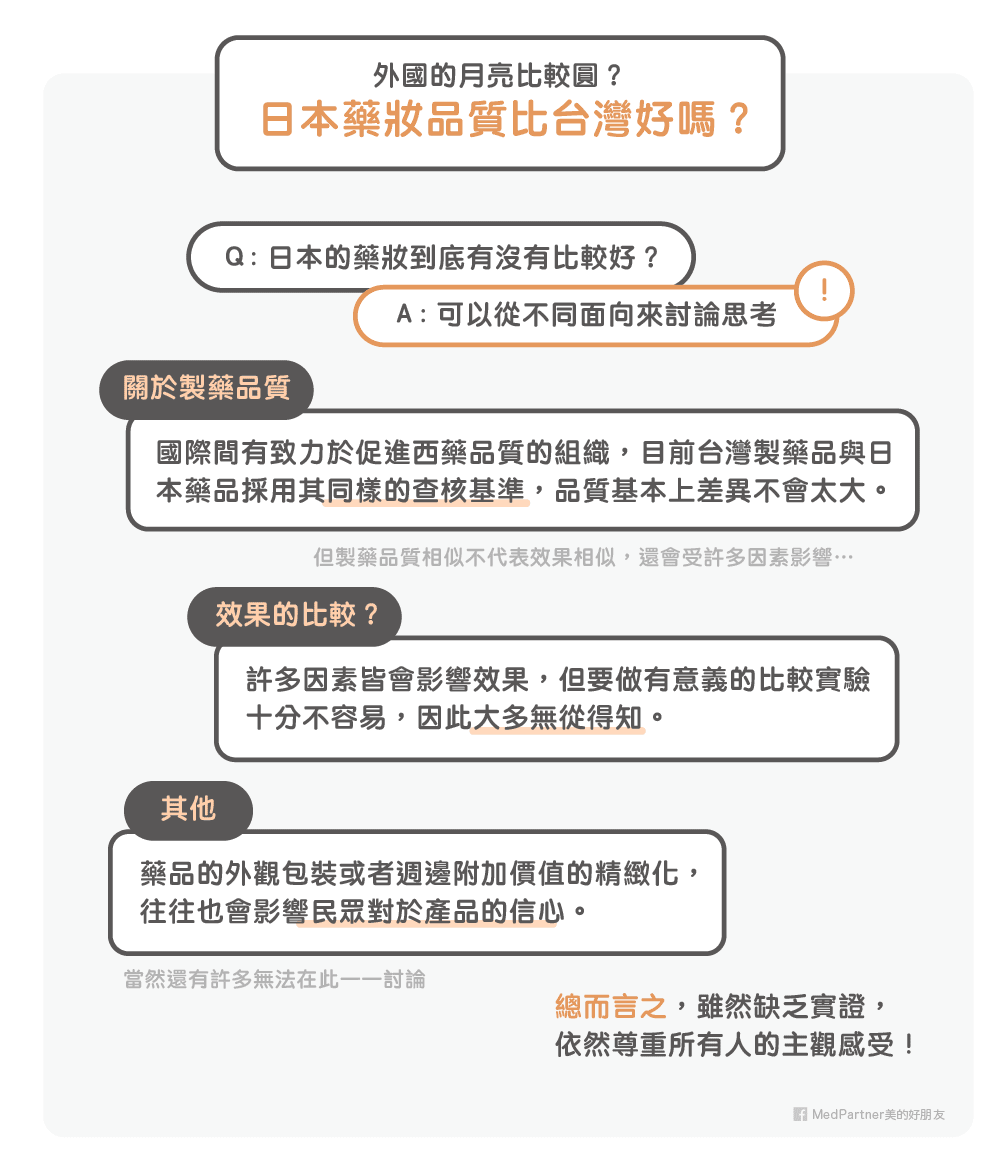 日本藥妝的品質一定比台灣好嗎?