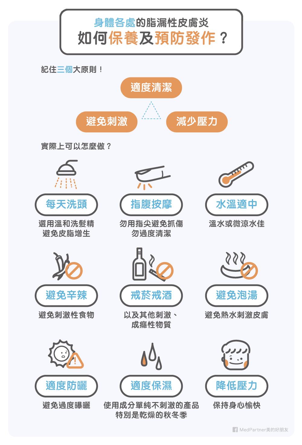 脂漏性皮膚炎保養及預防