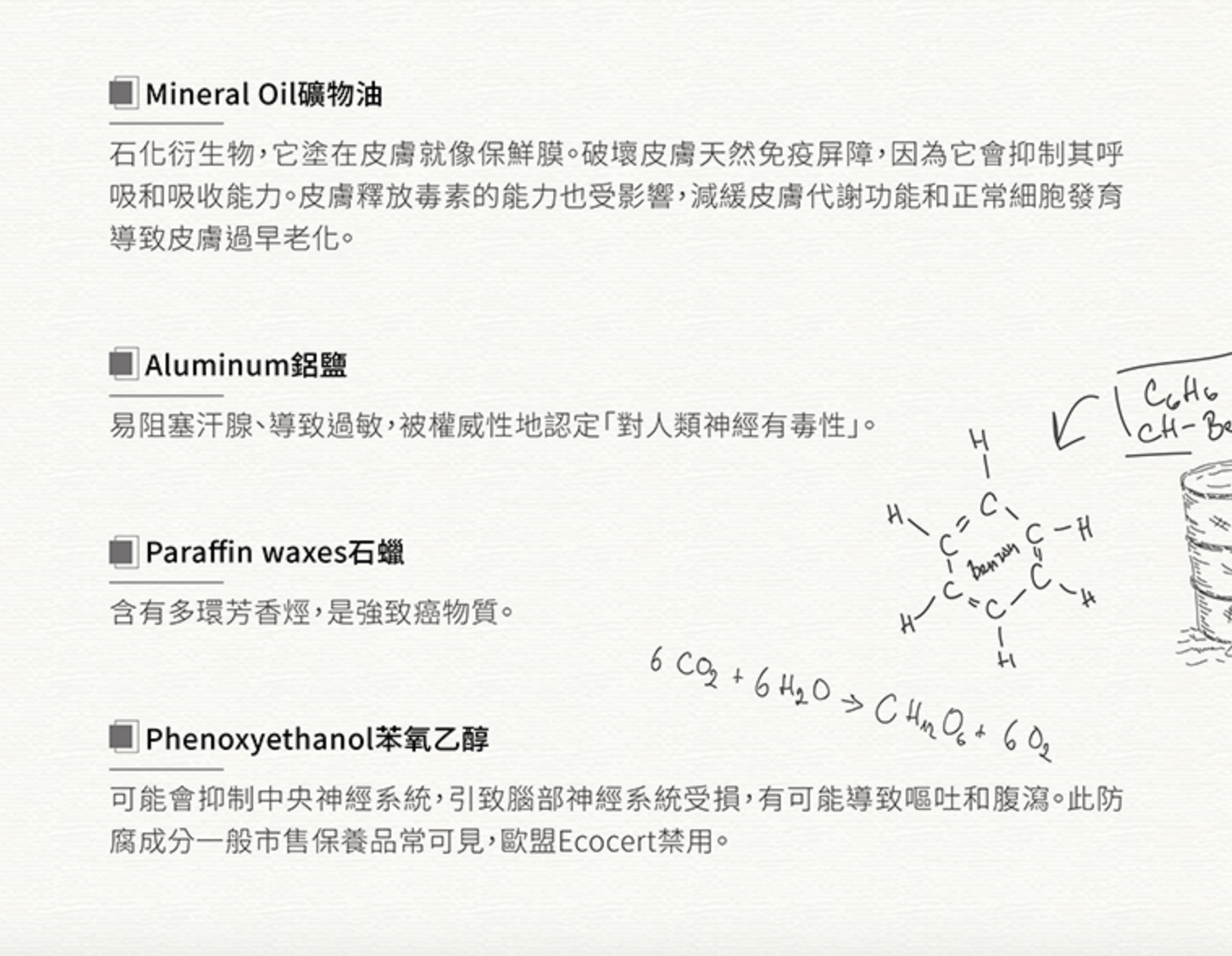 ZOOCCi質物系禁用成分(續)