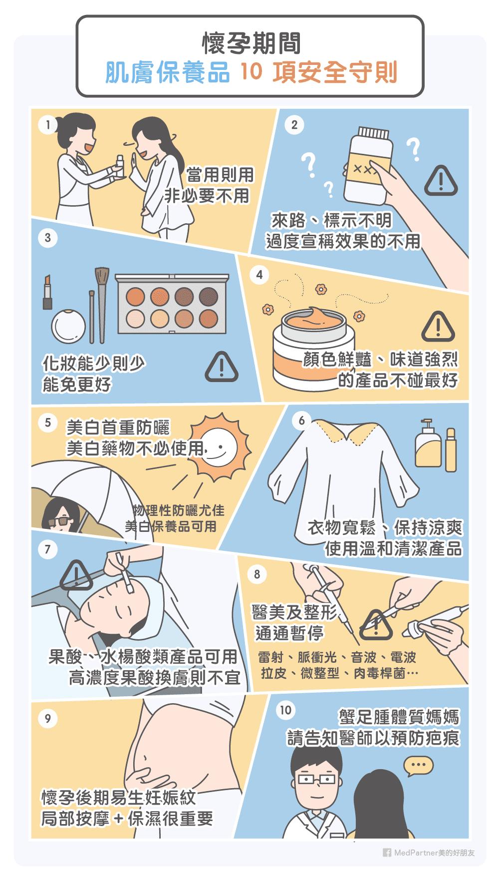 懷孕期間肌膚保養品10項守則