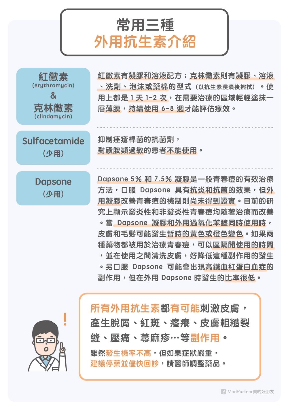 青春痘口服外用抗生素_外用介紹