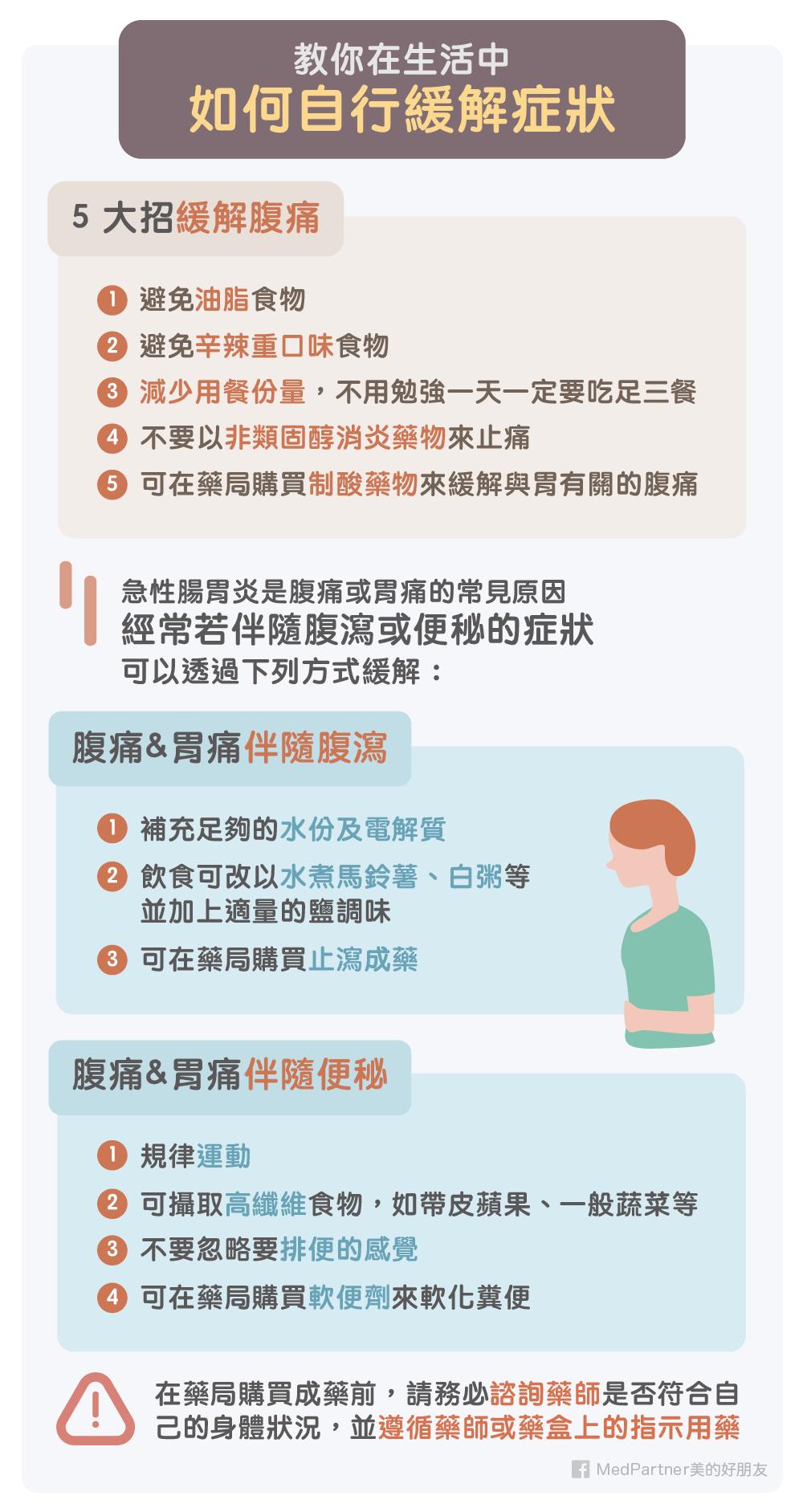 如何自行緩解腹痛症狀