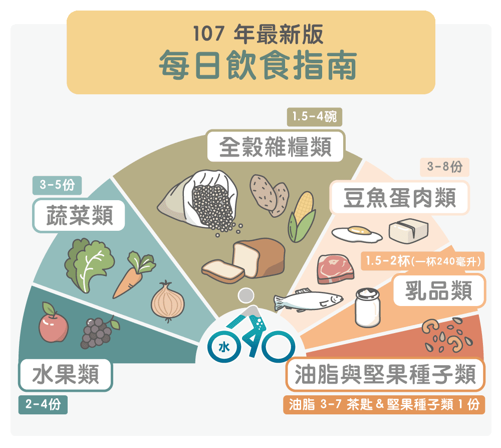 107年每日飲食指南