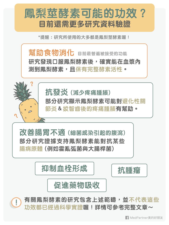 鳳梨莖酵素功效與研究