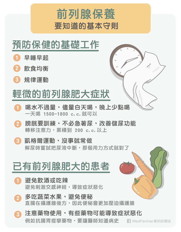 前列腺(攝護腺)保養基本守則