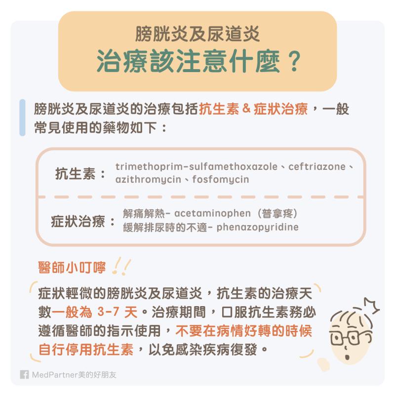 膀胱炎與尿道炎的治療
