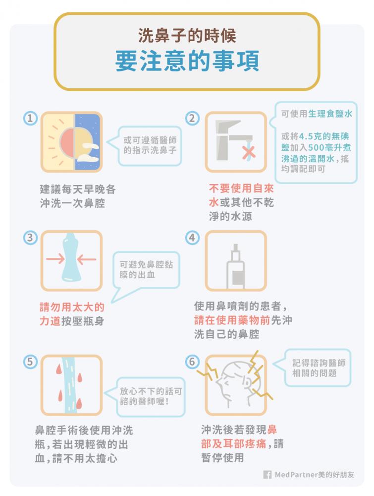 鼻腔沖洗術注意事項